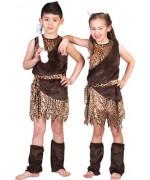 Déguisement caverne pour garçons et filles de 6 à 12 ans - costume cro-magnon