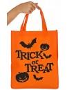 """Sac à bonbons Halloween """"Trick or Treat"""" de couleur orange - accessoires et décorations pour halloween"""