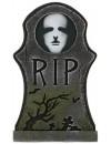 Pierre tombale Halloween lumineuse R.I.P avec visage - décoration halloween