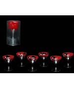 Lot de 6 verres halloween décorés d'une coulée de sang - décoration de table halloween