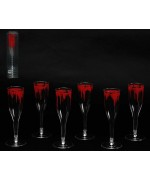 Lot de 6 verres à champagne sanglants, une idée déco idéale pour Halloween