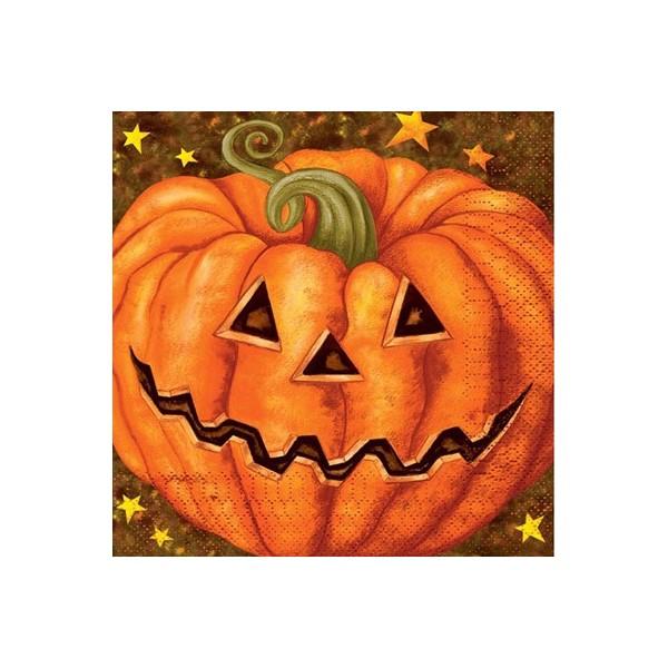 20 serviettes citrouille halloween en papier la magie du d guisement d coration de table - Citrouille halloween en papier ...