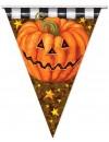 Guirlande de fanions citrouille d'environ 3,6 cm, une décoration originale pour les fêtes d'halloween