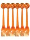 6 fourchettes halloween, invitez les citrouilles à votre décoration de table