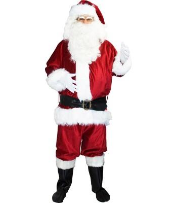Costume Père Noël luxe velours adulte