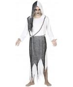 Déguisement de fantome pour homme avec tunique noire et blanche - anges et démons