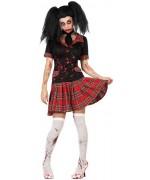 Déguisement d'écolière zombie pour femme décliné de la taille S au XL pour halloween