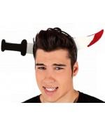 Serre-tête avec couteau sanglant - accessoire halloween
