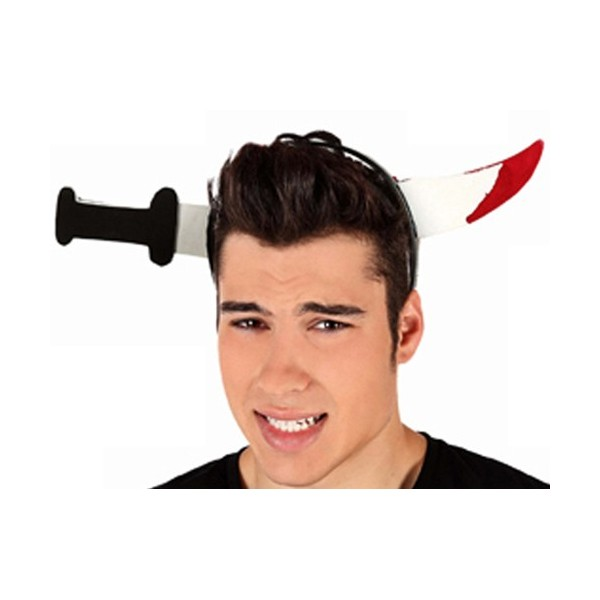 accessoires,halloween · Serre,tête avec couteau sanglant , accessoire  halloween