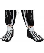 Paire de chaussons squelette pour adulte idéale pour tous vos déguisements de squelette