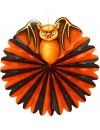 Lampion halloween orange et noir chauve-souris