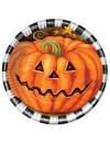 Assiettes citrouille halloween idéale pour décorer vos tables à l'occasion des fêtes d'halloween