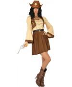 déguisement de cow girl pour femme avec robe et ceinture - Western et Farwest