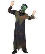 déguisement de zombie enfant avec tunique et masque - costume halloween