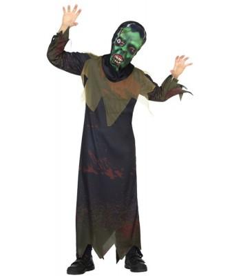 Déguisement zombie enfant avec masque