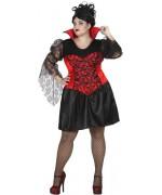 Robe de vampire pour femme proposée en taille XXL pour halloween, déguisement de vampire - WA500S4
