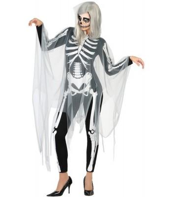 Déguisement squelette fantôme femme