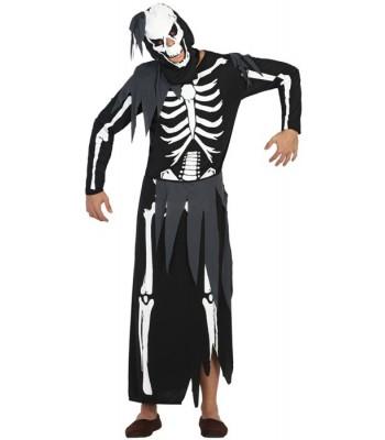 Déguisement squelette fantôme adulte
