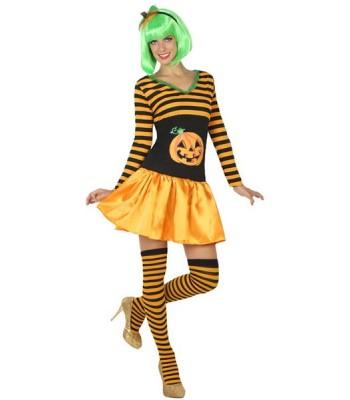 Déguisement citrouille Happy Halloween femme