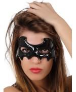 Masque noir chauve souris en vinyl