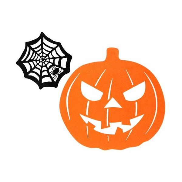 d coration halloween citrouille toile d araign e 36 cm la magie du d guisement article de. Black Bedroom Furniture Sets. Home Design Ideas