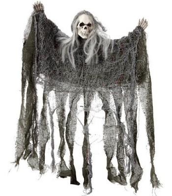 Squelette en guenille décoration Halloween