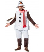 Costume de bonhomme de neige grande taille pour homme disponible en tailles XXL et XXXL