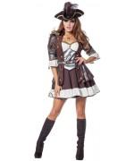 Costume de pirate pour femme avec robe et ceinture