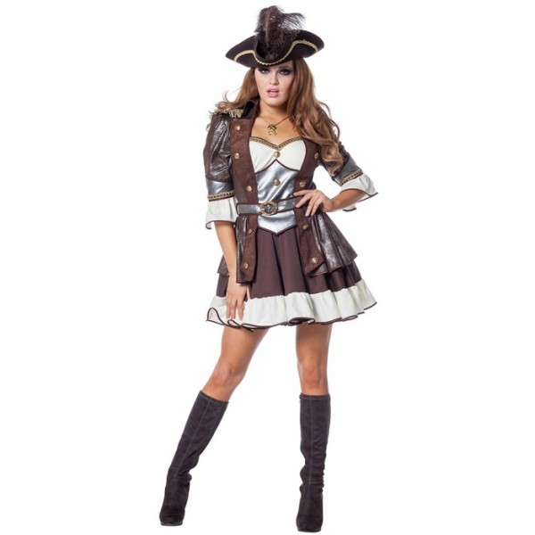 d guisement pirate luxe femme la magie du deguisement costume de pirate haut de gamme. Black Bedroom Furniture Sets. Home Design Ideas