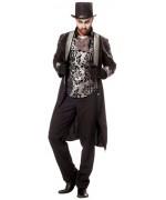 déguisement de vampire baroque pour homme avec veste et boléro incorporé - costume halloween