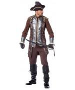 Costume de pirate pour homme avec pantalon et veste luxe