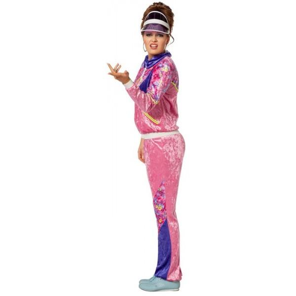 Survetement annee 80 pour femme, déguisement également disponible en grande  taille; Costume