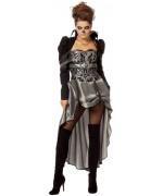 Déguisement de vampire baroque pour femme, longue robe d'époque victorienne