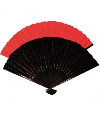 Éventail chinois noir