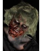 Maquillage zombie pour adulte avec latex, idéal pour vos maquillages d'halloween
