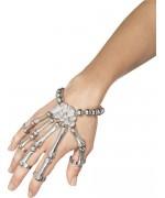 Bracelet squelette avec main