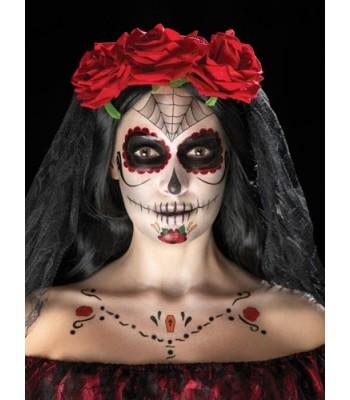 Tatouages squelette mexicain halloween