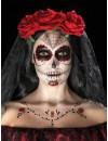 Maquillage jour des morts halloween, kit de maquillage et tatouages éphémères