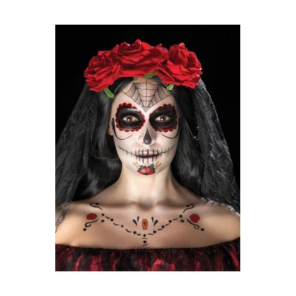 Connu Tatouages squelette mexicain halloween - la magie du déguisement  ND21