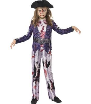 Déguisement pirate zombie fille