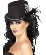 Chapeau noir avec squelette, un chapeau idéal pour les fêtes d'halloween