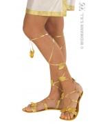 Sandales dorees 27 cm - accessoire égyptien, romain