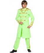 Déguisement Beatles vert sergent Pepper pour homme - costume années 60