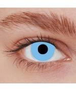 Paire de lentilles bleues - lentilles fantaisie iris bleu