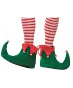 Chaussons de lutin de Noël pour adulte