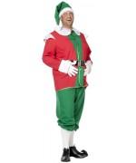 Costume lutin de Noël grande taille pour homme