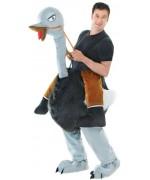 Déguisement homme à dos d'autruche costume humoristique carnaval