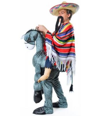 Déguisement Mexicain sur un âne