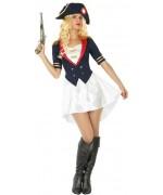 Déguisement Napoléon Bonaparte pour femme avec robe et chapeau