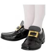 Boucles de chaussures en métal, couleur or